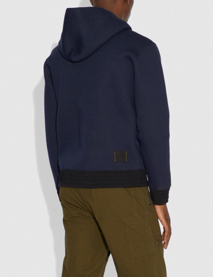 Coach Rexy Hoodie Dark Blue/Aubergine Men Ready-to-Wear Tops & Bottoms Alternate View 2