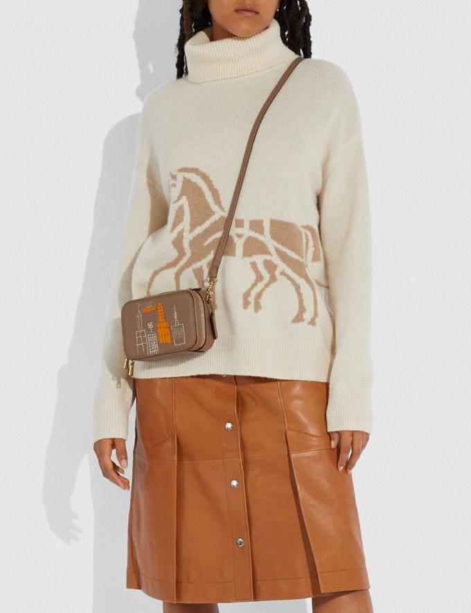 Coach Coach X Jean-Michel Basquiat Alie Belt Bag Brass/Elm Women Handbags Belt Bags Alternate View 4