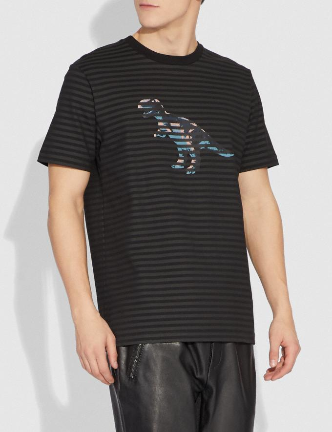 Coach Dinosaur Stripe T-Shirt Black/Black Men Ready-to-Wear Tops & Bottoms Alternate View 1