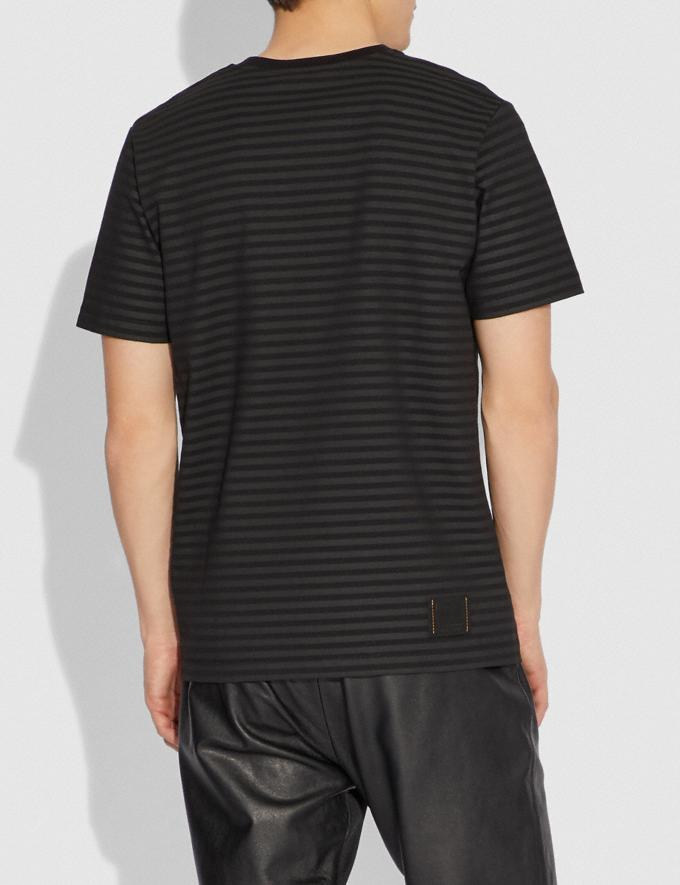 Coach Dinosaur Stripe T-Shirt Black/Black Men Ready-to-Wear Tops & Bottoms Alternate View 2