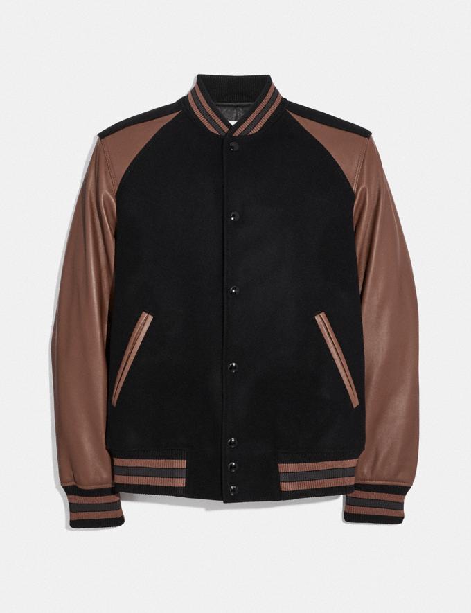 Coach Giacca College Nero/Teak Scuro Uomo Prêt-à-porter Cappotti e giacche