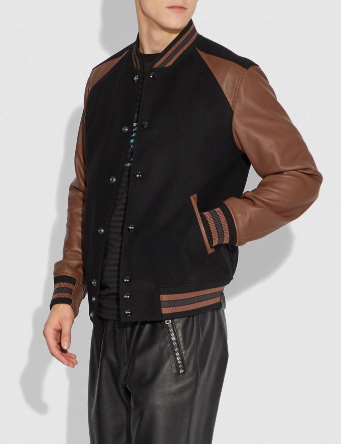Coach Varsity Jacket Black/Dark Teak  Alternate View 1