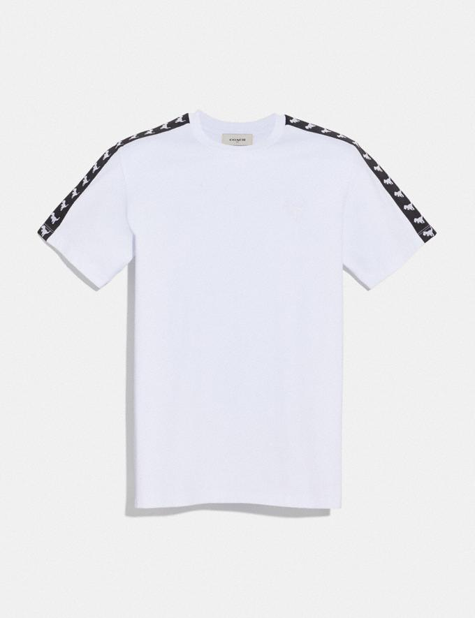 Coach Rexy Tape T-Shirt Optic White Men Ready-to-Wear Tops & Bottoms