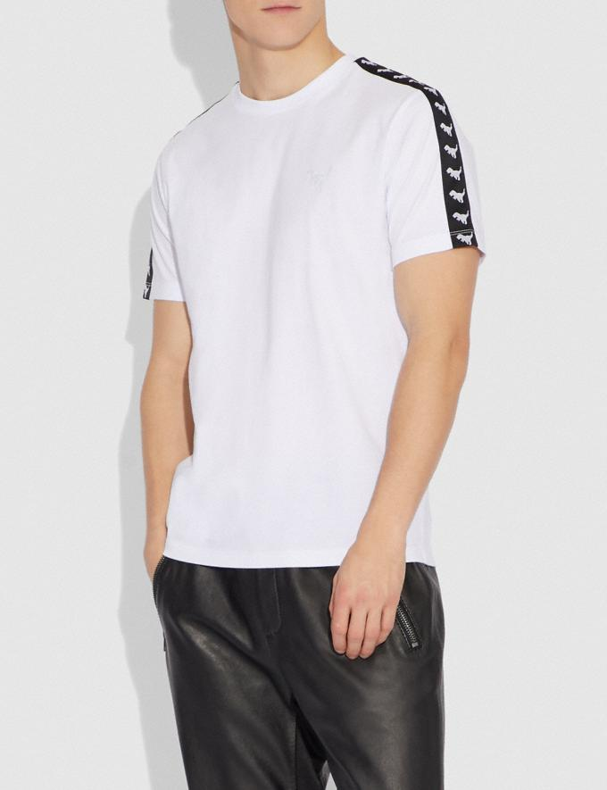 Coach Rexy Tape T-Shirt Optic White Men Ready-to-Wear Tops & Bottoms Alternate View 1