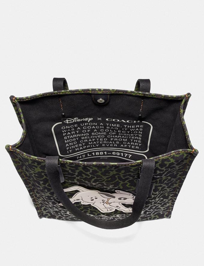 Coach Disney X Coach Dalmatian Tote Dark Olive/Gunmetal Women Bags Totes Alternate View 2