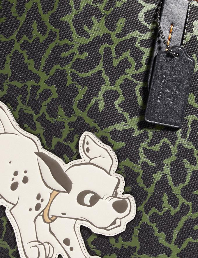 Coach Disney X Coach Dalmatian Tote Dark Olive/Gunmetal Women Bags Totes Alternate View 4