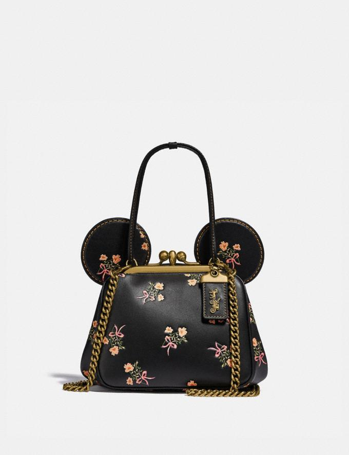 Coach Disney X Coach Minnie Mouse Kisslock Bag Brass/Black New Women's New Arrivals Bags