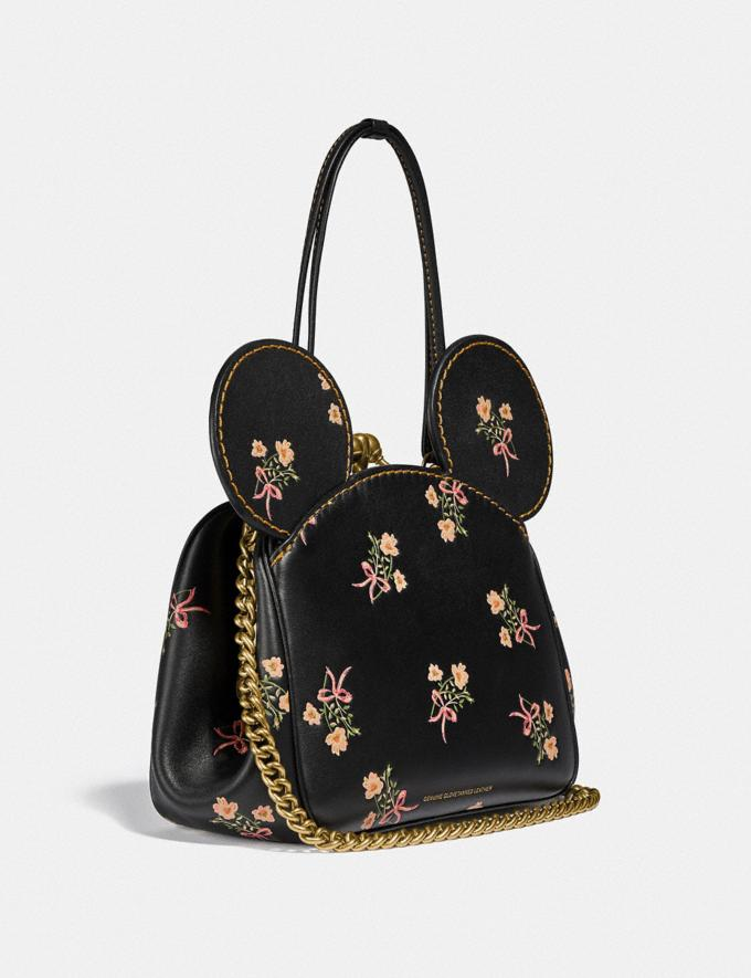 Coach Disney X Coach Minnie Mouse Kisslock Bag Brass/Black New Women's New Arrivals Bags Alternate View 1