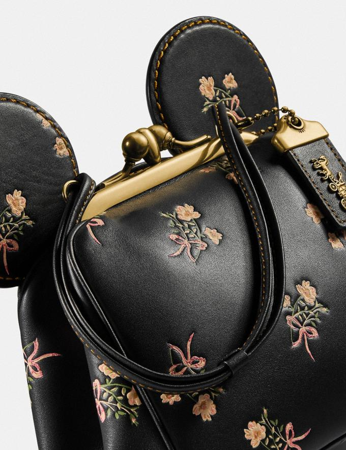 Coach Disney X Coach Minnie Mouse Kisslock Bag Brass/Black New Women's New Arrivals Bags Alternate View 4