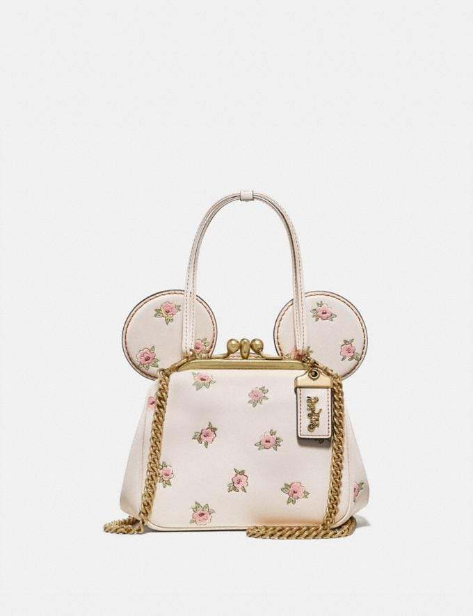 Coach Disney X Coach Minnie Mouse Kisslock Bag Brass/Chalk New Women's New Arrivals View All