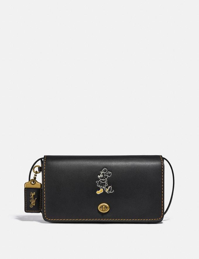 Coach Disney X Coach Dinky Brass/Black New Featured Disney X Coach
