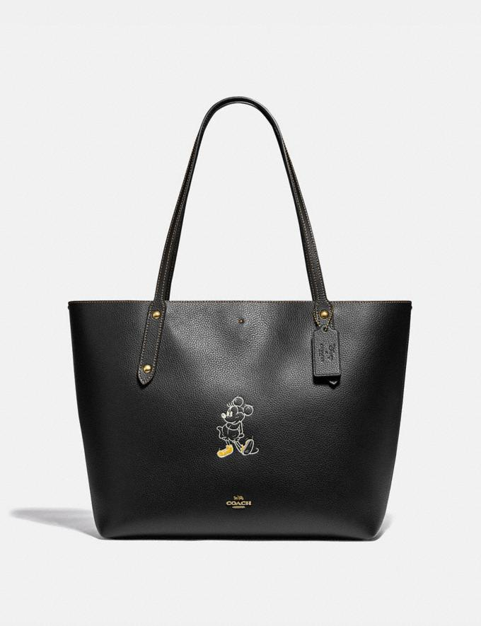 Coach Disney X Coach Market Tote With Disney Motif Brass/Black New Women's New Arrivals View All