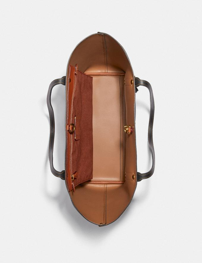 Coach Disney X Coach Market Tote With Disney Motif Brass/Black New Women's New Arrivals Bags Alternate View 2