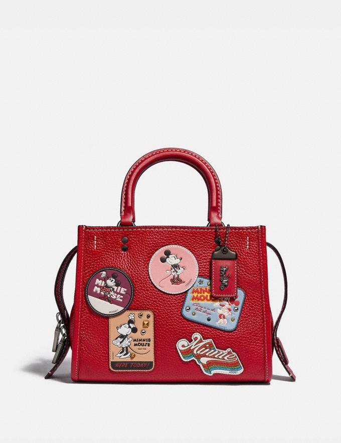 Coach Disney X Coach Rogue 25 With Patches Pewter/1941 Red New Featured Disney X Coach