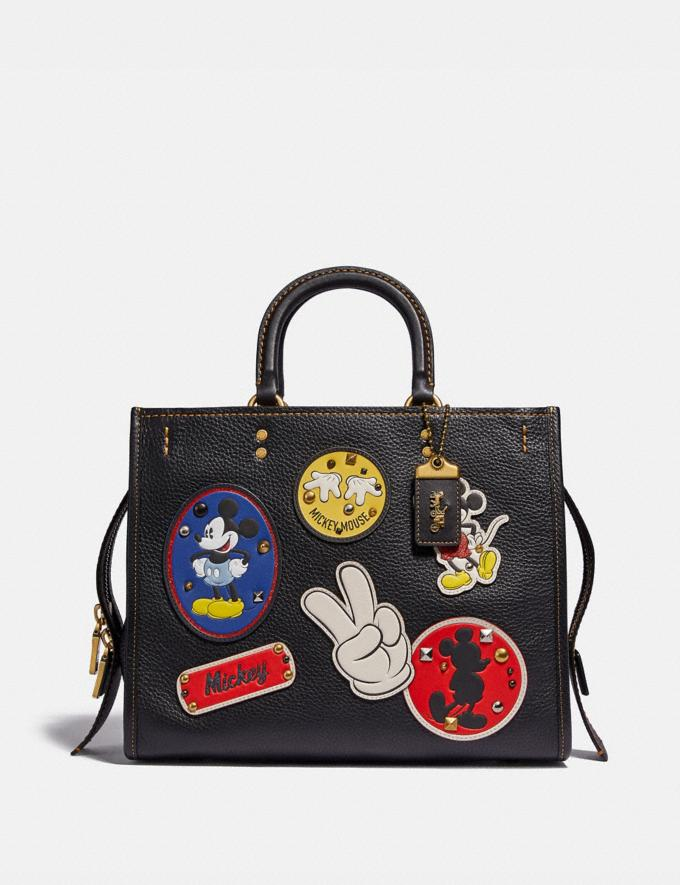 Coach Disney X Coach Rogue With Patches Brass/Black New Featured Disney X Coach
