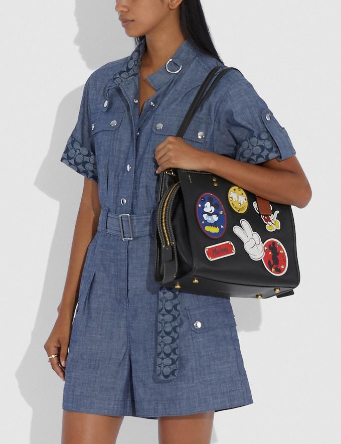 Coach Disney X Coach Rogue With Patches Brass/Black New Featured Disney X Coach Alternate View 3