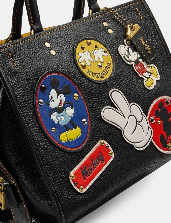 Coach Disney X Coach Rogue With Patches Brass/Black New Featured Disney X Coach Alternate View 5