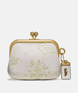 DISNEY X COACH KISSLOCK FRAME POUCH WITH DISNEY MOTIF