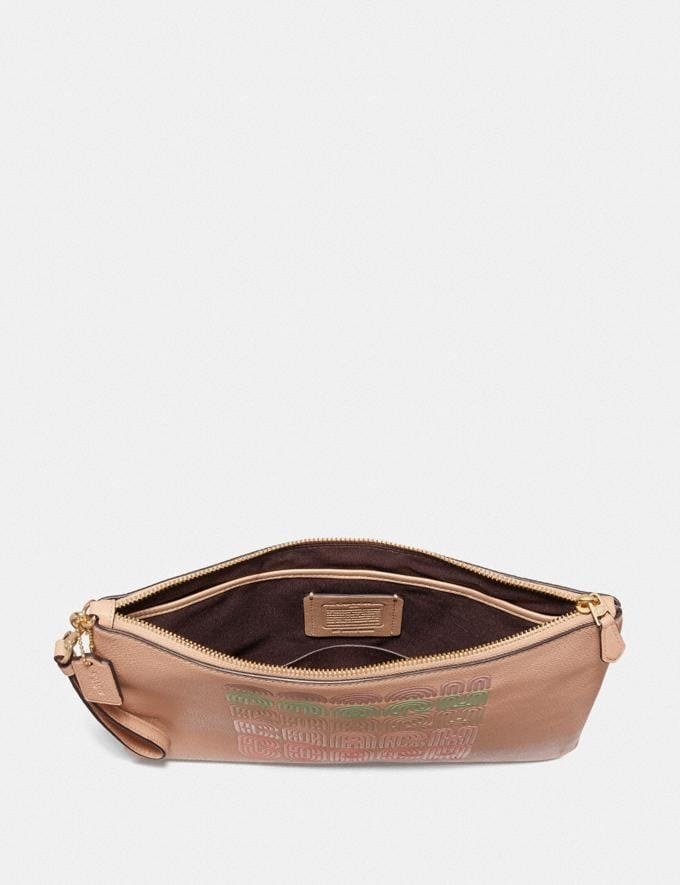Coach Large Wristlet 30 With Coach Print Beige  Alternate View 1
