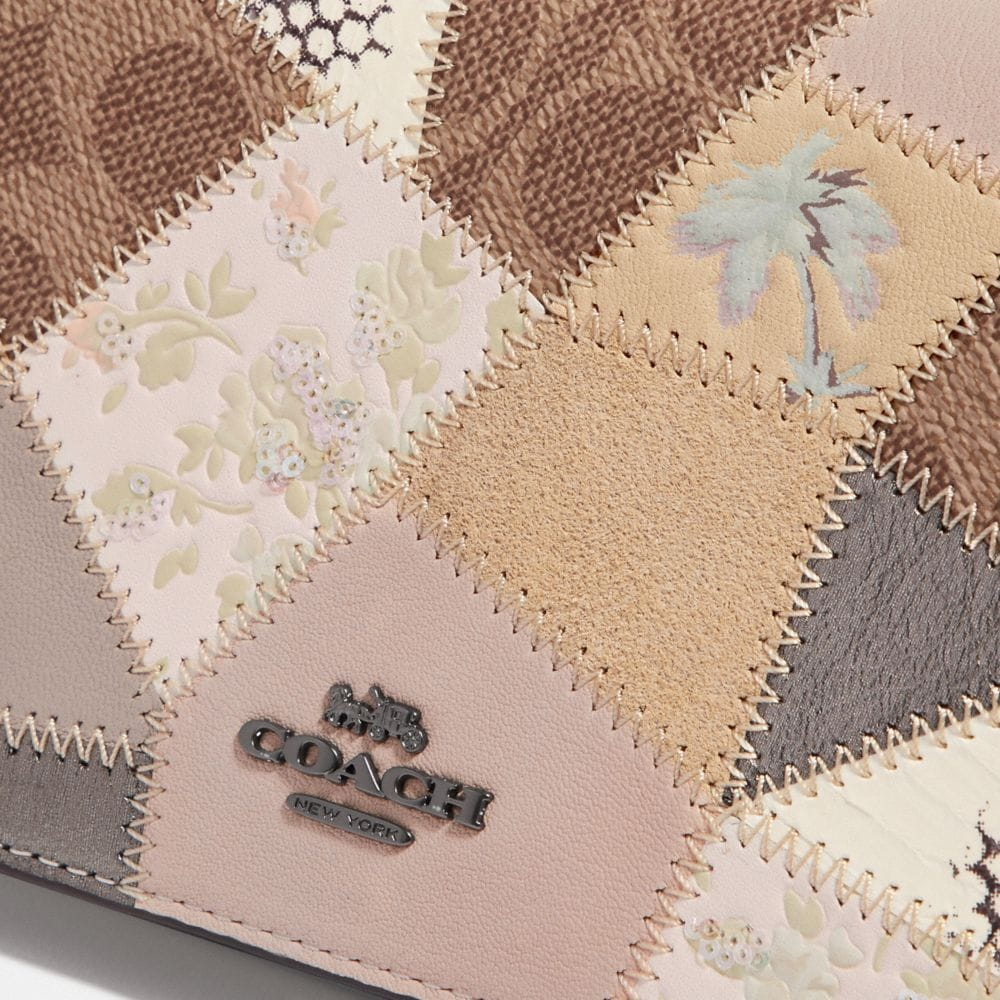 Coach Callie Foldover Chain Clutch With Signature Patchwork Alternate View 4