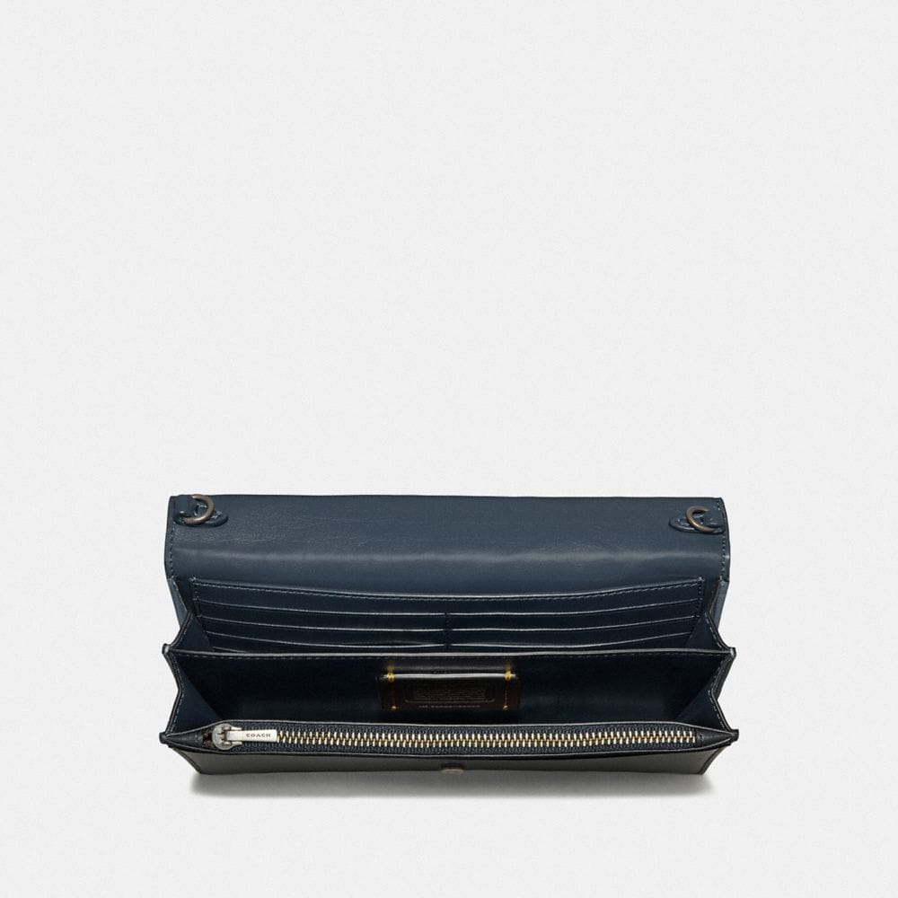 Coach Callie Foldover Chain Clutch With Signature Patchwork Alternate View 2