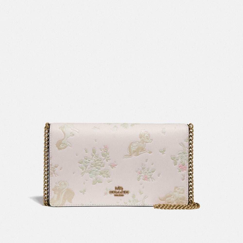 Coach Disney X Coach Callie Foldover Chain Clutch With Disney Motif
