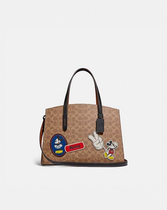 Coach DISNEY X COACH CHARLIE CARRYALL IN SIGNATURE CANVAS WITH PATCHES