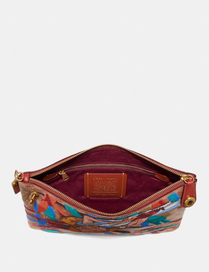 Coach Disney X Coach Turnlock Wristlet 30 Signature Canvas With Alice Tan/Rust/Brass Women Small Leather Goods Wristlets Alternate View 1