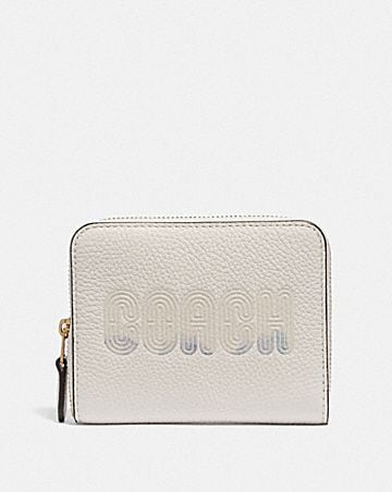SMALL ZIP AROUND WALLET WITH COACH PRINT