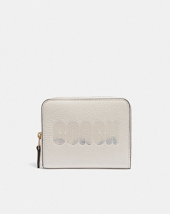 Coach SMALL ZIP AROUND WALLET WITH COACH PRINT