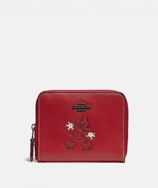 DISNEY X COACH SMALL ZIP AROUND WALLET WITH DISNEY MOTIF