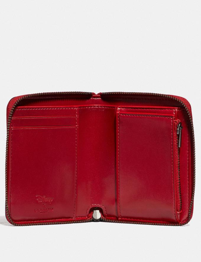Coach Disney X Coach Small Zip Around Wallet With Disney Motif Pewter/1941 Red Gifts For Her Alternate View 1