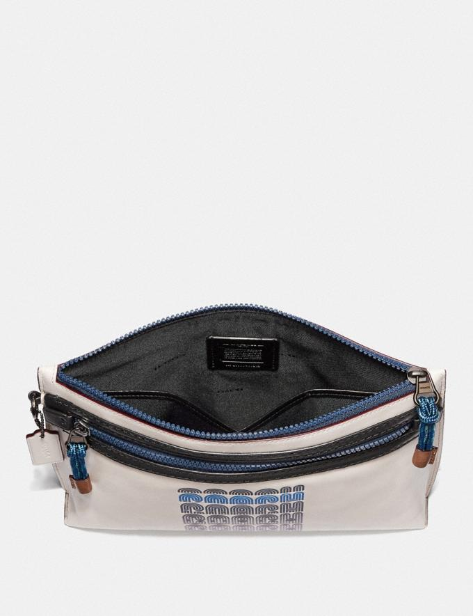 Coach Academy Pouch With Coach Print Chalk  Alternate View 1