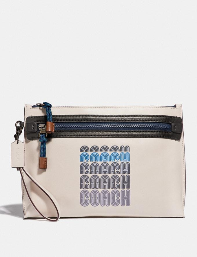 Coach Academy Pouch With Coach Print Chalk