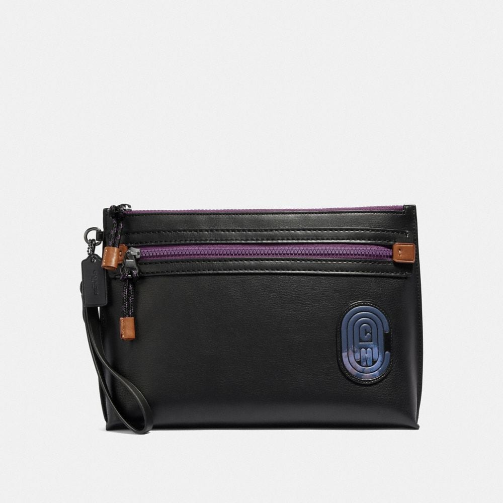 ACADEMY POUCH WITH COACH PATCH