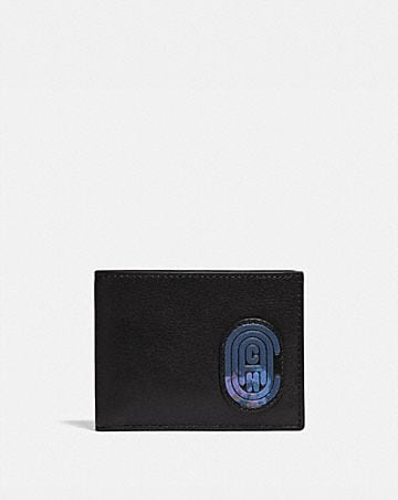 SLIM BILLFOLD WALLET WITH COACH PATCH 3de4a86270e92