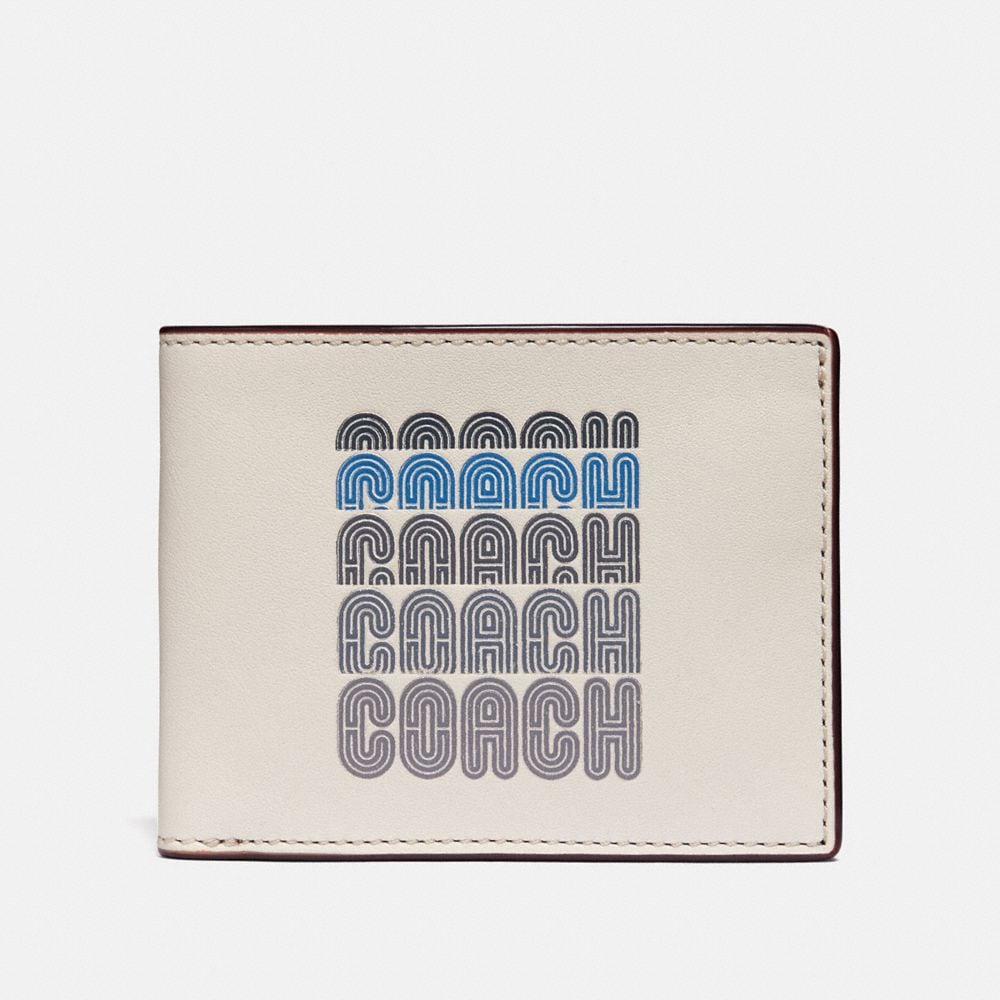 slim billfold wallet with coach print