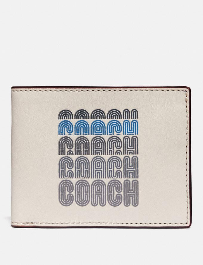 Coach Slim Billfold Wallet With Coach Print Chalk 30% off Select Full-Price Styles