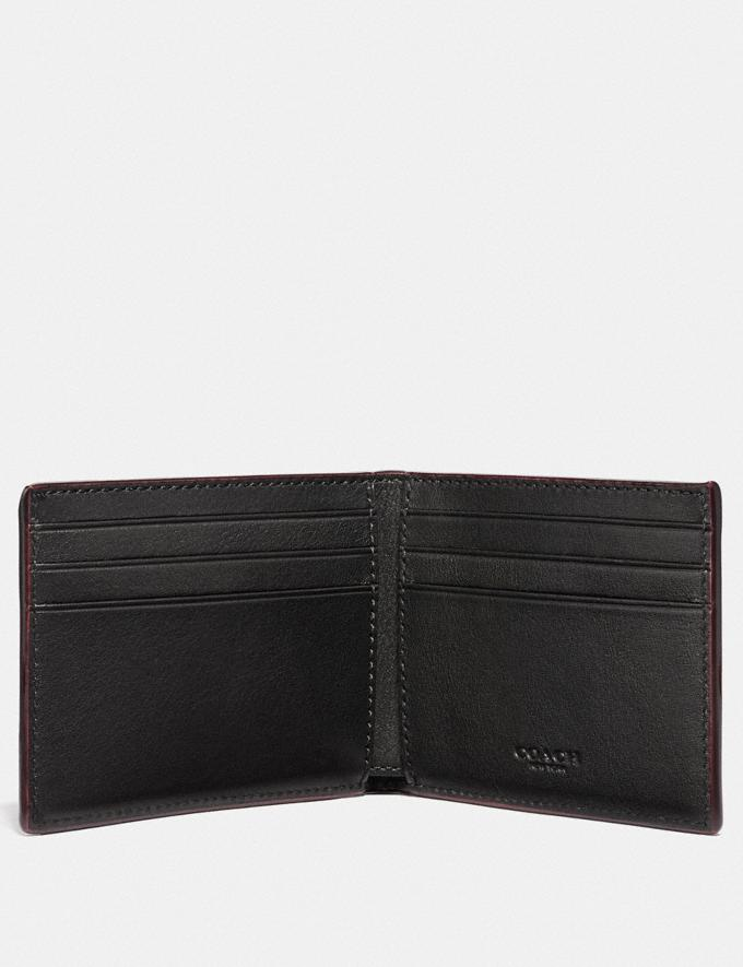 Coach Slim Billfold Wallet With Coach Print Chalk 30% off Select Full-Price Styles Alternate View 1