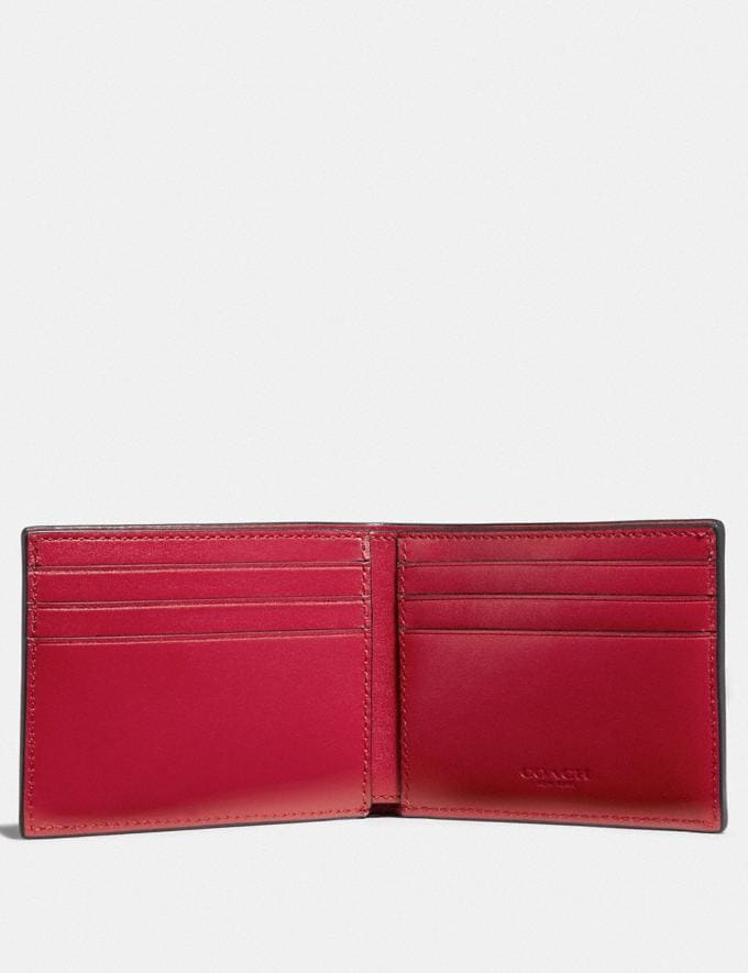 Coach Slim Billfold Wallet in Signature Canvas With Coach Patch Charcoal 30% off Select Full-Price Styles Alternate View 1