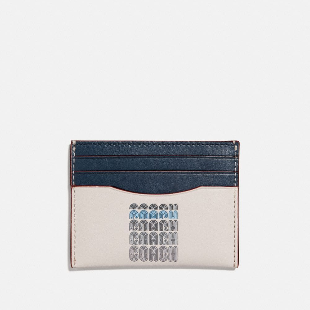 Coach Card Case With Coach Print
