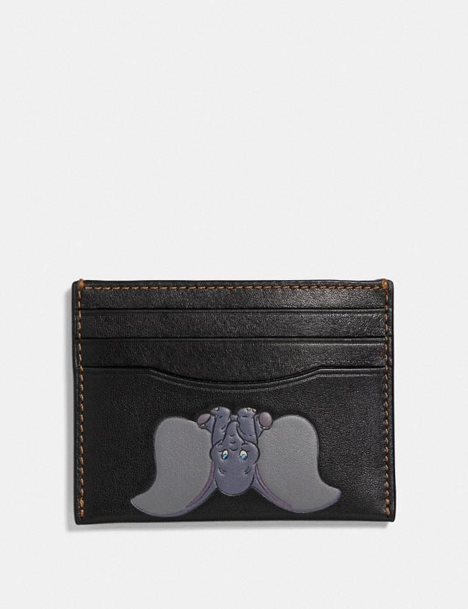 Coach Disney X Coach Card Case With Dumbo Black Men Wallets Card Cases