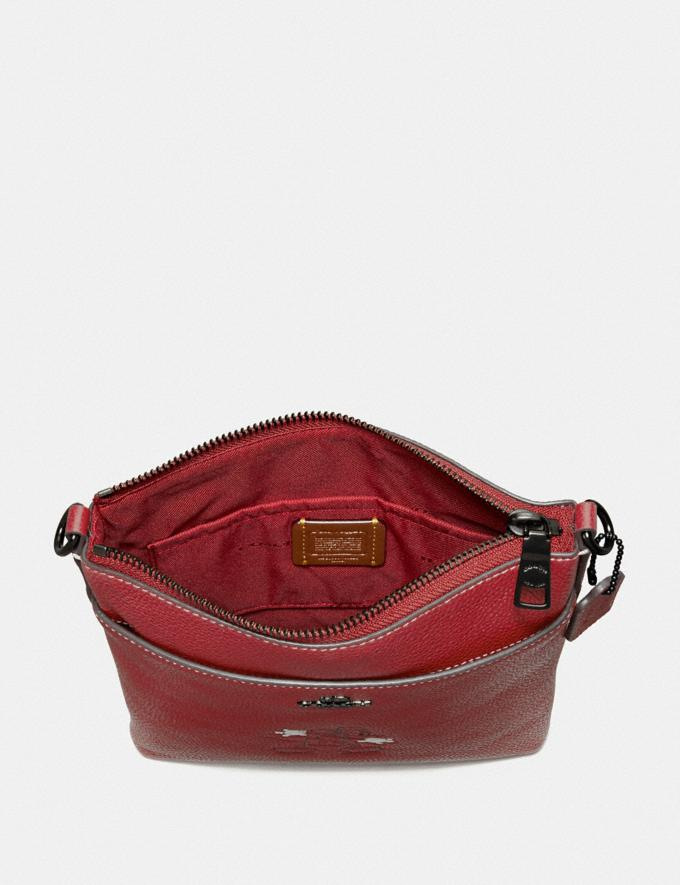 Coach Disney X Coach Kitt Messenger Crossbody With Disney Motif Pewter/1941 Red Women Handbags Crossbody Bags Alternate View 1