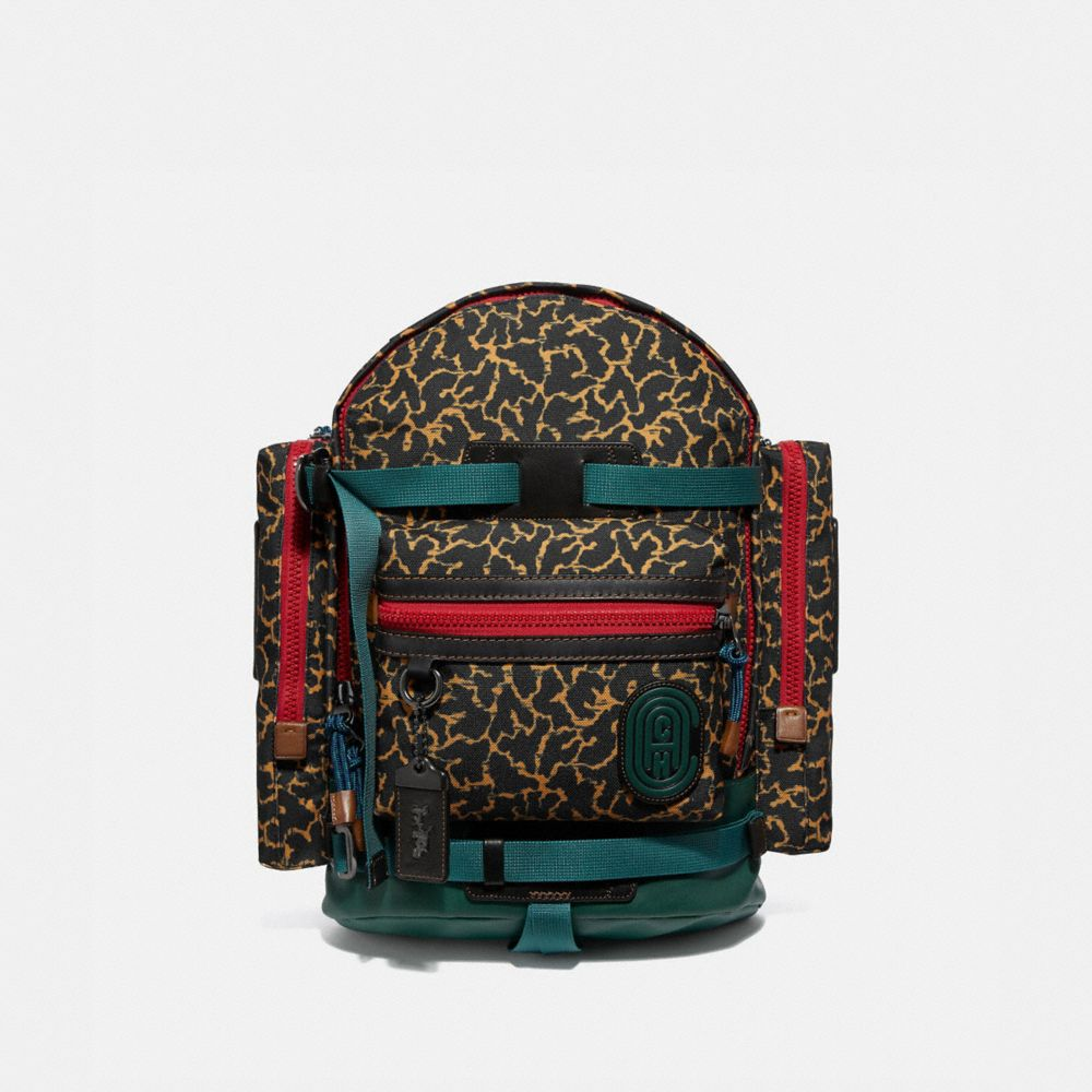 ridge backpack with graphic animal print