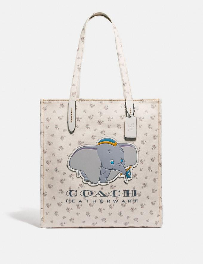 Coach Disney X Coach Dumbo Tote Chalk/Gunmetal Women Bags Totes
