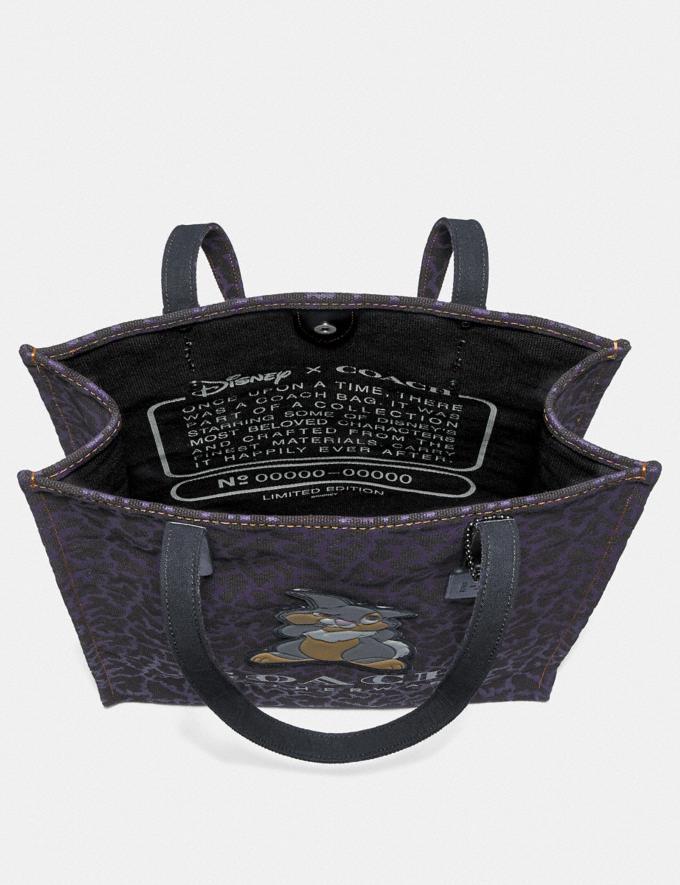 Coach Disney X Coach Thumper Tote Black/Gunmetal Women Bags Totes Alternate View 2