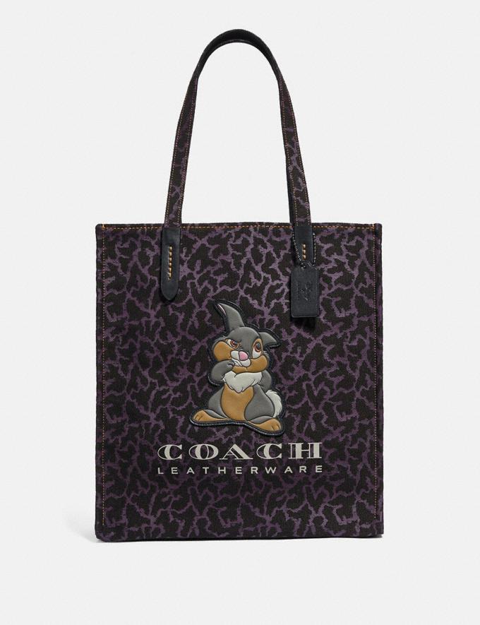 Coach Disney X Coach Thumper Tote Black/Gunmetal Women Bags Totes
