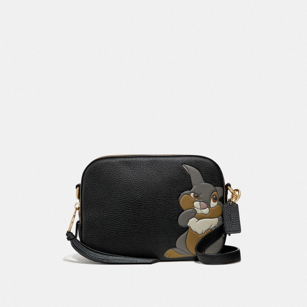 disney x coach camera bag with thumper