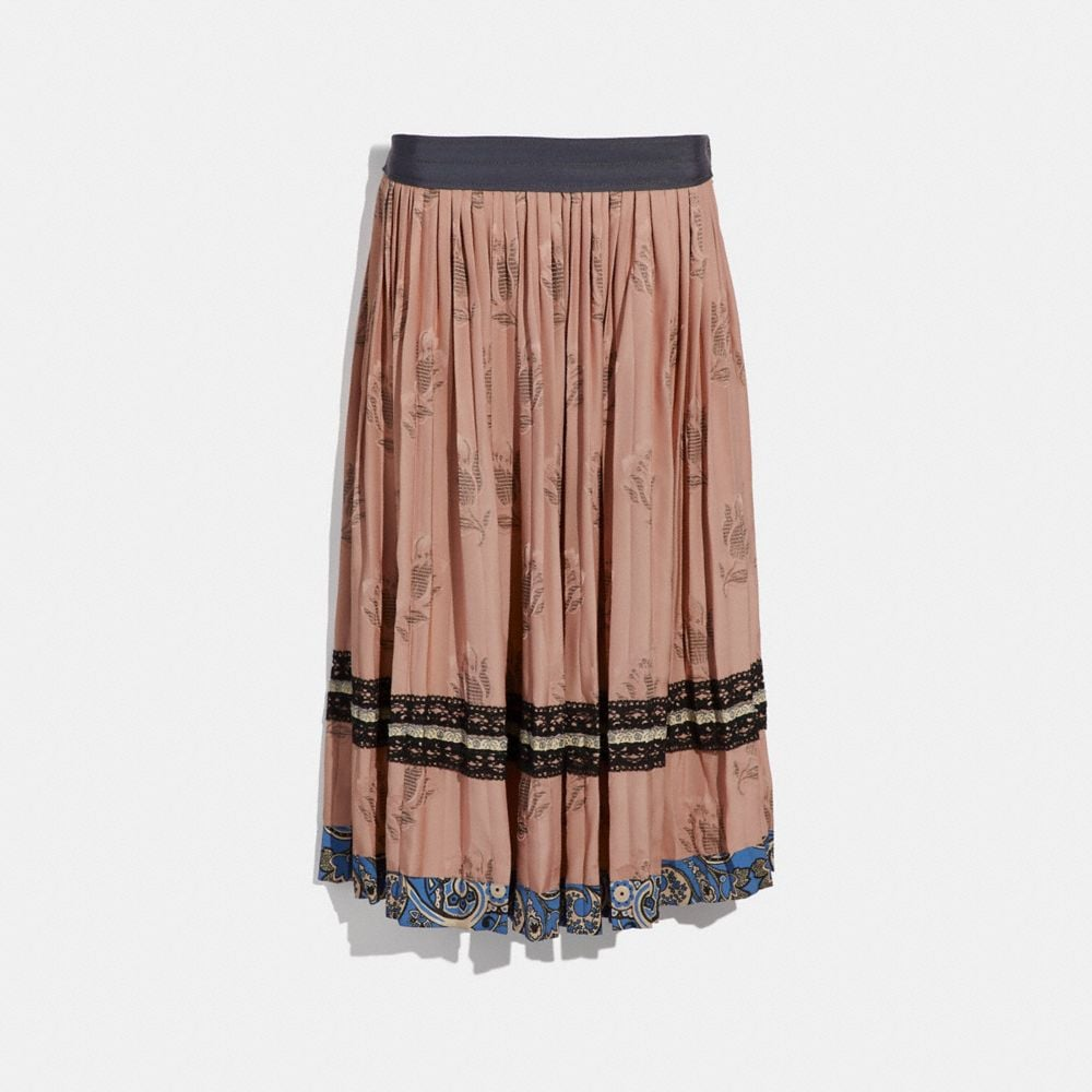 Coach Tulip Print Pleated Skirt