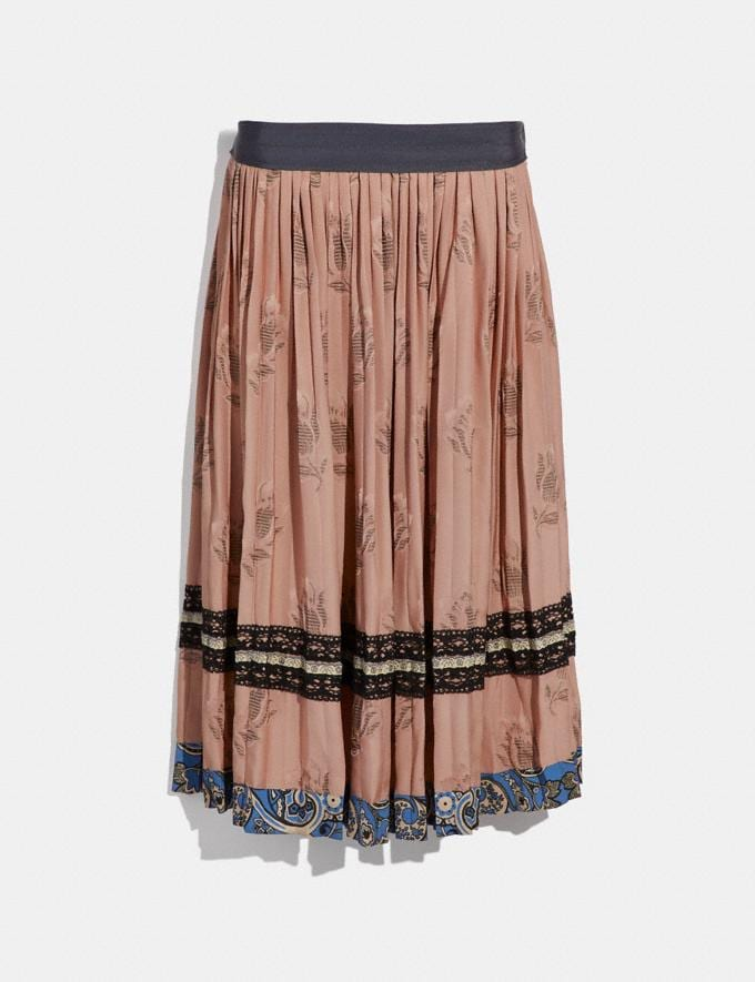 Coach Tulip Print Pleated Skirt Nude Pink